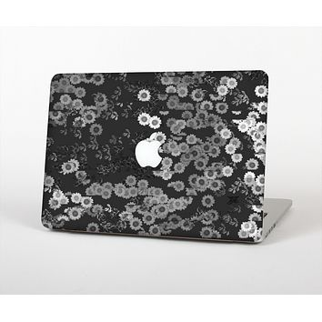 "The Small Black and White Flower Sprouts Skin Set for the Apple MacBook Pro 13"" with Retina Display"