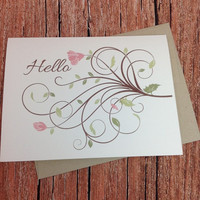 Hello Greeting Card - 3 Card Pack