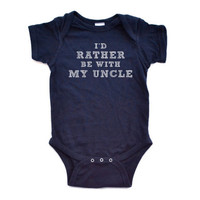 I'd Rather Be With My Grandpa - White on Navy, Red, Purple or Tuquoise Short Sleeve Baby Bodysuit