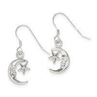 Sterling Silver Moon & Star Earrings