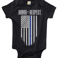 Baby Bodysuit - Thin Blue Line
