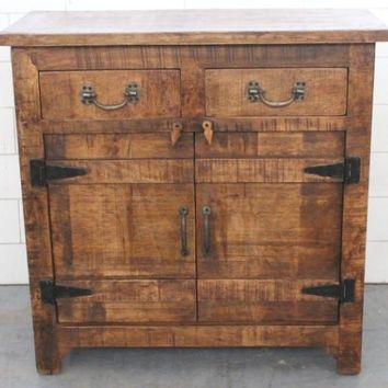 Bengal Manor Mango Wood 2 Drawer / 2 Door Cabinet By Crestview Collection Cvfnr325