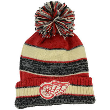 Detroit Red Wings NHL 2014 Winter Classic Cuffed Pom Hat