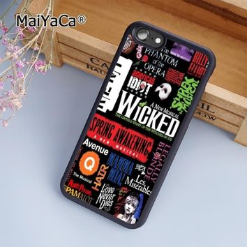 MaiYaCa Custom Broadway Musical and Phantom of the Opera Phone Case Cover For iPhone 5s 6 6s 7 8 plus 10 X Samsung Galaxy S6 S7