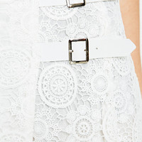 Little White Lies Valentine Lace Kilt in White - Urban Outfitters