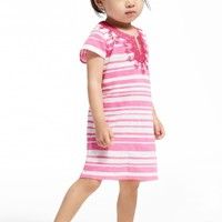 Little Girls' Suna Stripe Printed Cotton Tunic | Calypso St. Barth