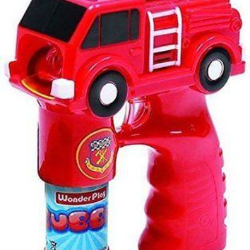 Party Favors Battery Operated Fire Truck Bubble Gun With Light And Music