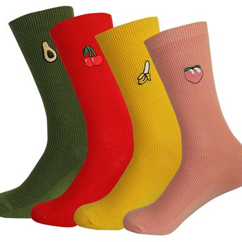 Women's Novelty Colorful Casual Cozy Cotton Crew Socks No Slip Cute Ladies Socks