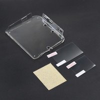 1PC Hard Transparent Plastic Crystal Gamepad Case Clear Skin Cover Protective Shell For Nintendo 2DS+Film