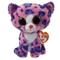 TY Beanie Boos - REAGAN the Pink Leopard (Glitter Eyes) (Regular Size - 6 inch) *Limited Exclusive*