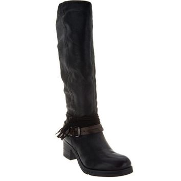 Miz Mooz Black Sugar Leather Tall Shaft Boots