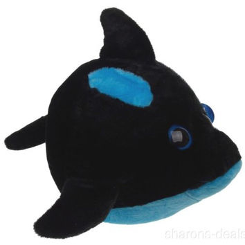 "Sea World Orca Killer Whale 9"" Bubble Zoo Plush Toy Blue Black Stuffed Animal"