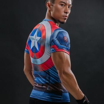 T Shirt Captain America Shield Civil War Tee 3D Printed T-shirts Men Marvel Avengers 3 iron man Fitness Clothing Male Tops