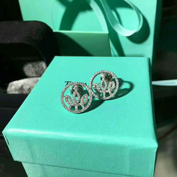 Tiffany Crown Stud Earrings / Necklace 925 sterling silver luxury high quality