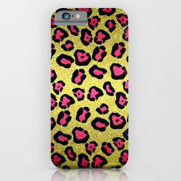 Glitters Pink Leopard Pattern iPhone & iPod Case by Tees2go