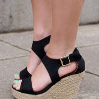 Good Vibes Wedge - Black