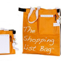 Shopping List Bag Canvas Grocery Bags