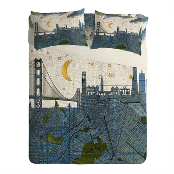 Belle13 San Francisco Starry Night Sheet Set Lightweight