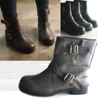 YESSTYLE: Marcella- Buckled Strap Boots - Free International Shipping on orders over $150