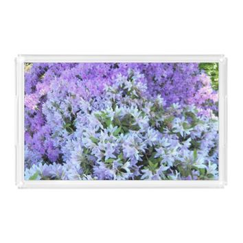 Rhododendron Bouquet Floral Acrylic Tray