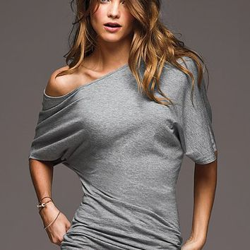 Victoria's Secret - Off-the-Shoulder Tunic Top in GRAY