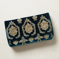 Damask Scroll Clutch