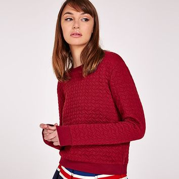 Louche Textured Sweat Shirt