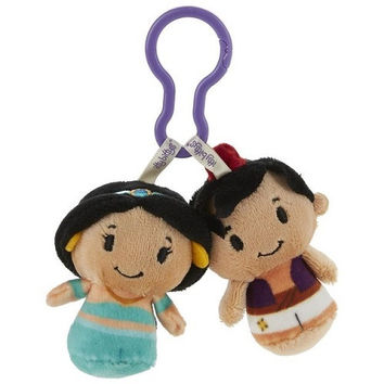 Hallmark Disney Aladdin and Jasmine itty bittys Clippys Stuffed Animals