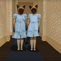 Siamese Twins - The Shining - Cat Print Signed 8x10