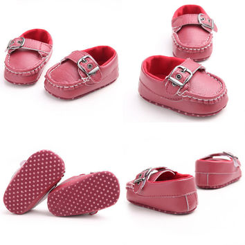 U Leather Baby Shoes 2016 Moccasin Newborn Shoes Soft Infants Crib Shoes Sneakers First Walker