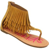 Toddlers Fringe Sandal, Rust