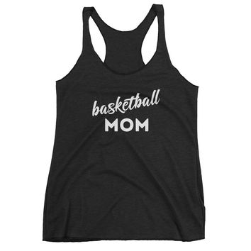Basketball Mom - Workout Fitness - Women's Racerback Tank