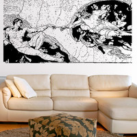 Vinyl Wall Decal Sticker The Creation Of Adam #5414