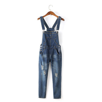Summer Women's Fashion Korean Slim High Rise Denim Pants [4919985988]