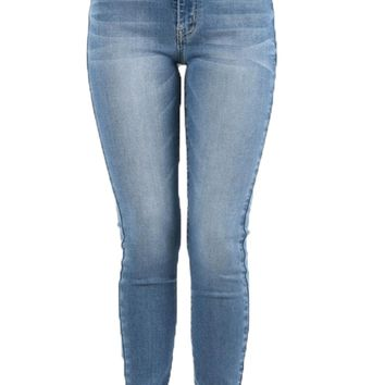Kan Can Medium Wash High Rise Skinny Jeans