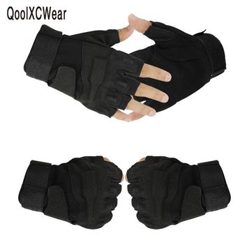 QoolXCWear blackhawk hell storm usa special forces tactical gloves slip outdoor Men fighting half- finger gloves