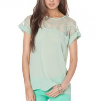 Wellwood Top in Mint - ShopSosie.com