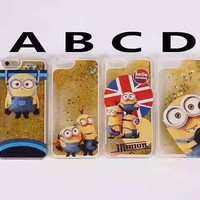 Dynamic Liquid Glitter & Stars Minions iPhone 5, 6 & 6 Plus Case