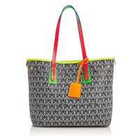 Light and Bright Accent Leather Tote by Liberty London