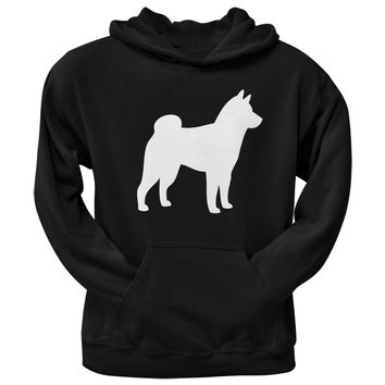 Shiba Inu Silhouette Black Adult Pullover Hoodie