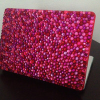 Pink and red MacBook Pro case by entrepreNORA on Etsy