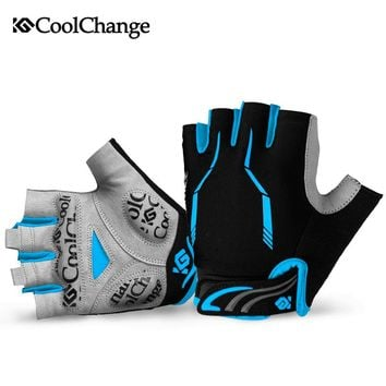 CoolChange Cycling Gloves Male Half Finger Gel Pad Mountain Bike Bicycle Gloves Cycling Riding Sport Gloves Fitness Guantes 40