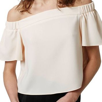 Topshop 'Livi' Off the Shoulder Top (Regular & Petite) | Nordstrom