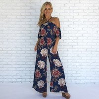 Love Is In The Air Floral Jumpsuit