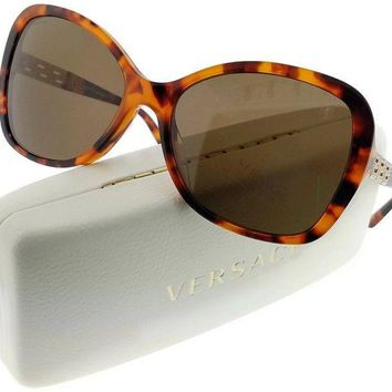 Versace VE4271BA-507473 Women's Havana Frame/Brown Lens 58mm Sunglasses New In B
