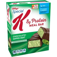 Kellogg's Special K Protein Chocolatey Dipped Mint Dessert-Inspired Meal Bar, 1.59 oz, 5 count - Walmart.com