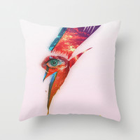 Glam Tear Throw Pillow by Galvanise The Dog