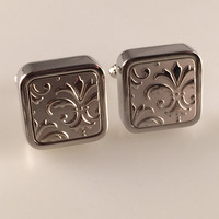 Fleur De Lis Cuff Links, French Royalty Cufflinks, Men's Cuff Links, Wedding Cuff Links, Father's Day, Graduation Gift