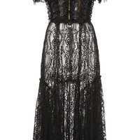 Ruffled Lace Off-the-Shoulder Dress | Moda Operandi
