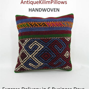 antique kilim pillow cover turkish pillow designer cushion tradition kilim pillow sham boho throw pillow decorative pillow home decor 000319